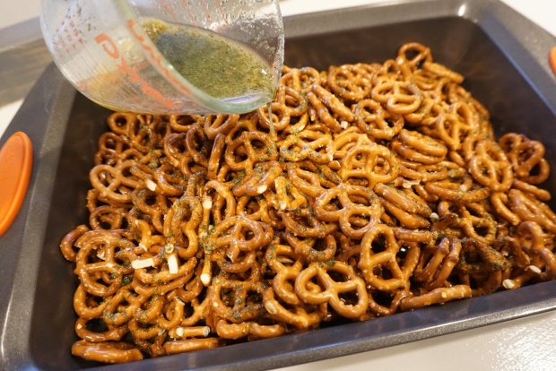 seasoned pretzels